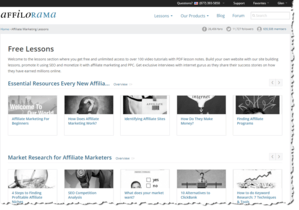 Affilorama provides access to 120 lessons.