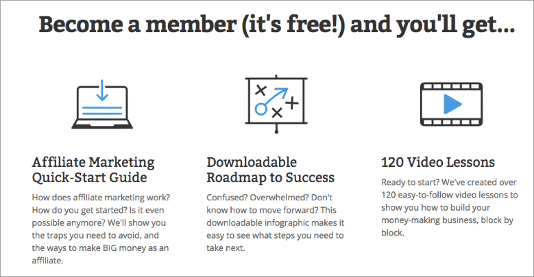 Affilorama free membership features
