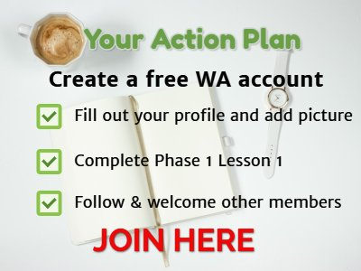 Wealthy Affiliate plan of action to join