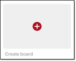 Creating a Pinterest board is click-a-button easy.