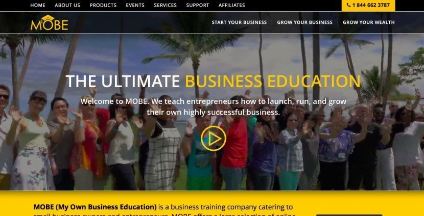 MOBE promoting itself as the ultimate business education.