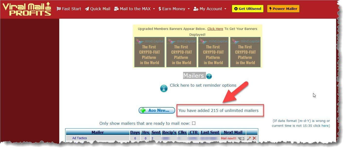 Viral Mail Profits program is a mailer and email management program.